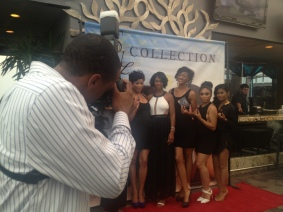 Capturing the event host and her assistants.
