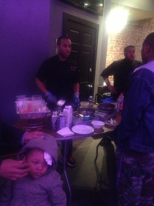 Chef JoJo on the omelette station