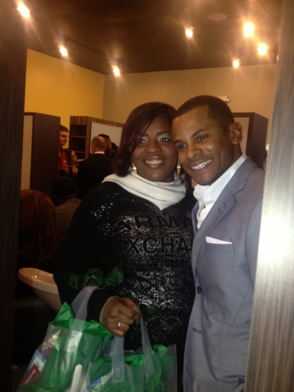 Mrs. Weathers and WPGC's Guy Lambert